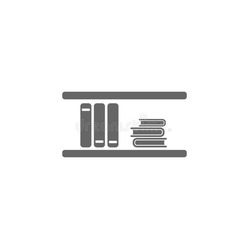 Wall bookshelf icon. Simple element illustration. Wall bookshelf symbol design template. Can be used for web and mobile stock illustration
