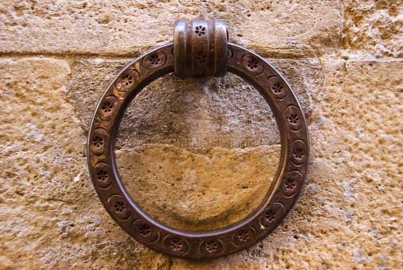 Wall brace. In Volterra, Tuscany, Italy stock photography