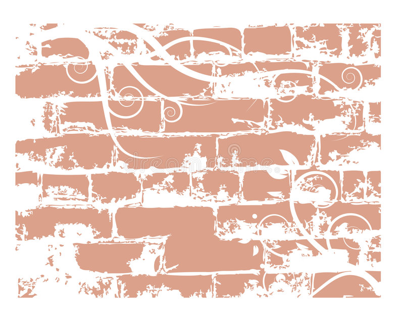 Download Wall Brick, Grunge Background Stock Vector - Image: 6527725