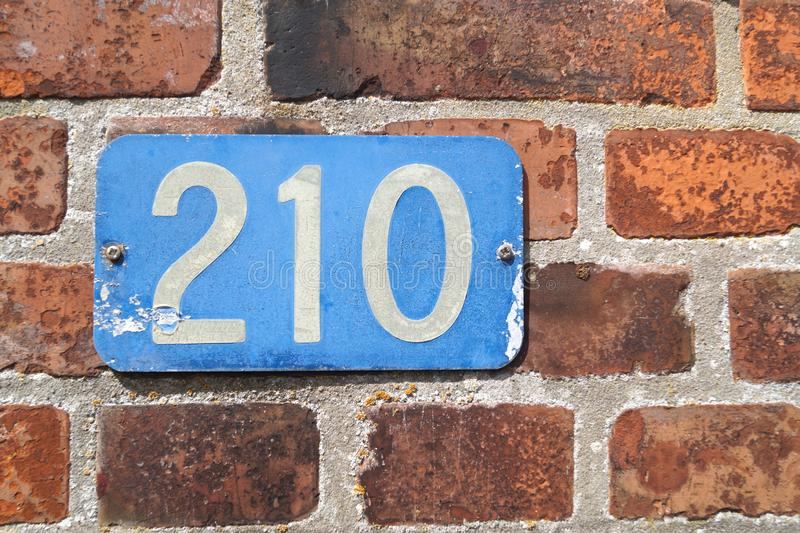 Wall, Brick, Number, House Numbering stock images