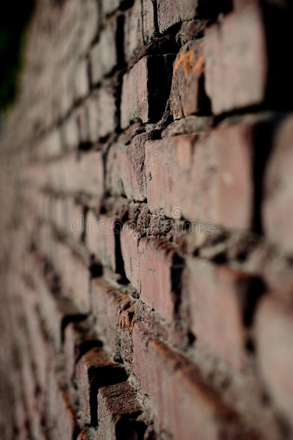 Wall. Bricks contrast brown red royalty free stock photos