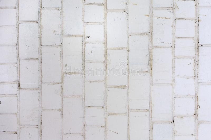 Wall Of Bricks Painted With Dirty White Paint Texture Of Masonry