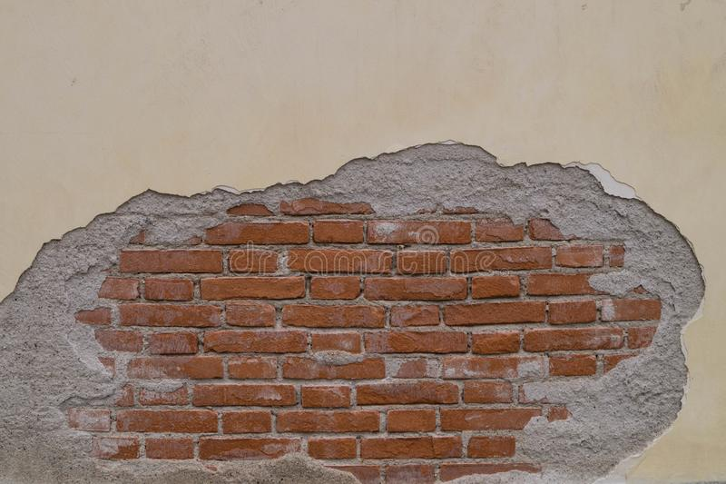 Stonewall and bricks. Wall of bricks or Stones and fugues stock photo