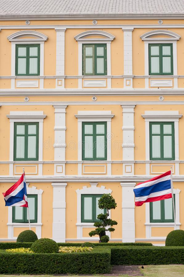 Download Wall building stock image. Image of flag, thailand, roof - 13996513