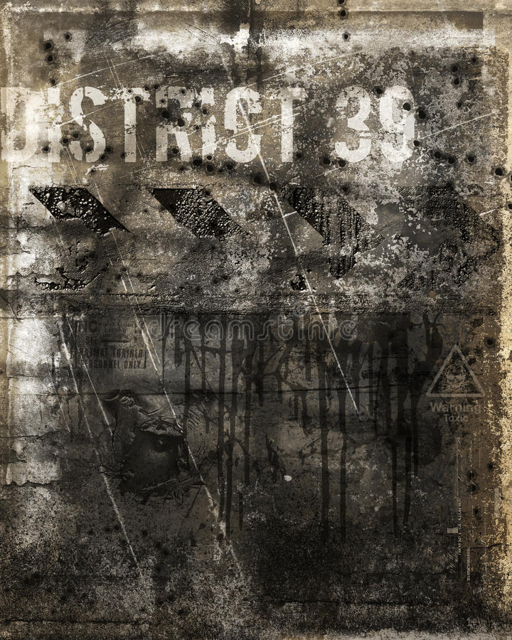 Wall With Bullet Holes Stock Images