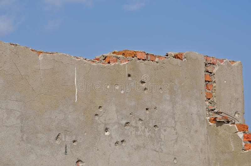 Download Wall with bullet-holes 4 stock photo. Image of construction - 25912320