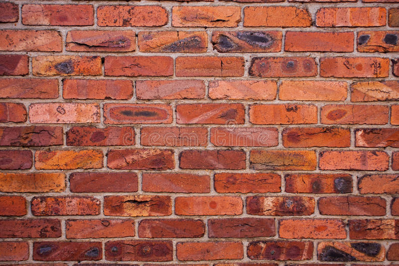 Download Wall with burned bricks stock photo. Image of surface - 29125390