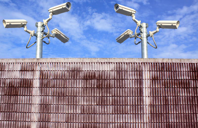 Download Wall And Cctv Camera Securities Stock Photo - Image: 25328506