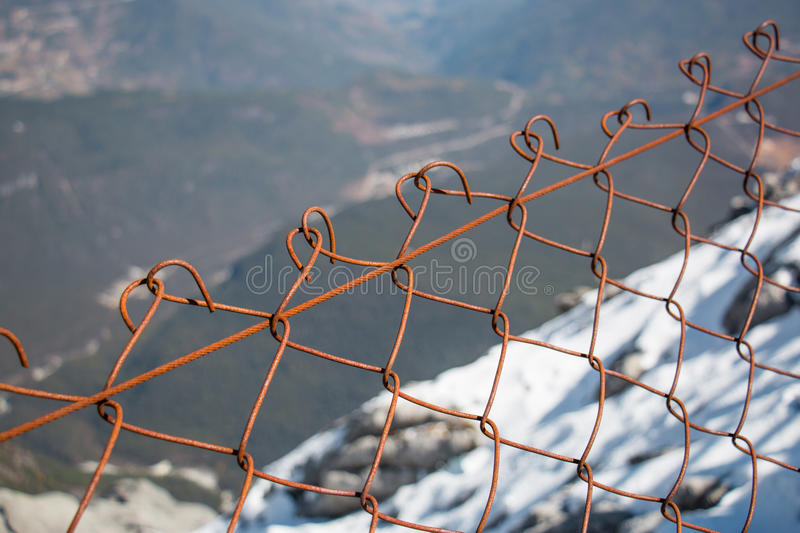 Wall chain royalty free stock image