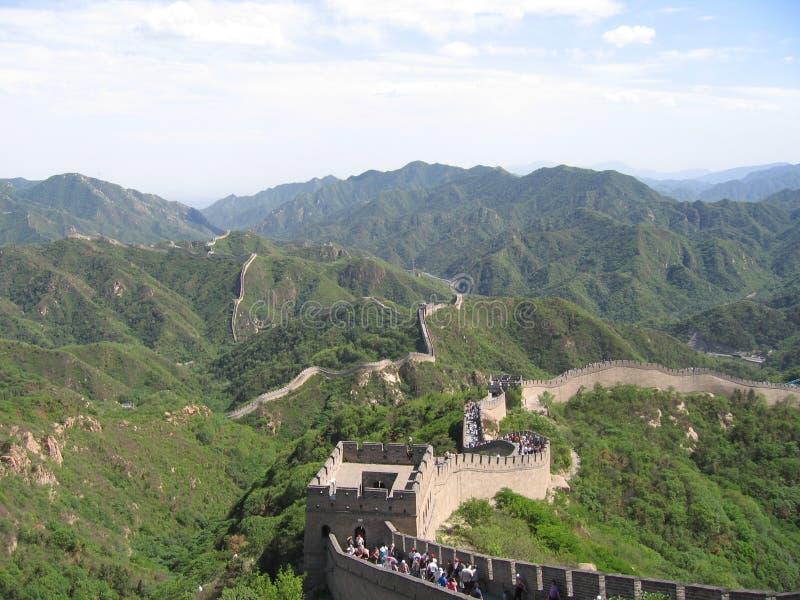 Wall of China stock image