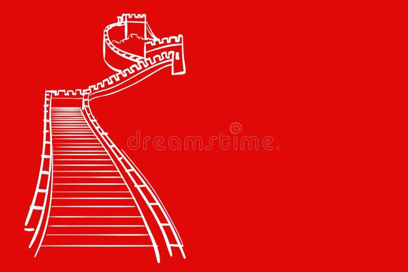 Wall of China royalty free illustration