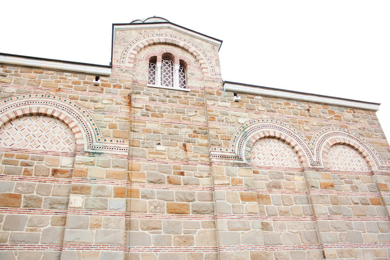 A wall of the church of Tsaravets stronghold stock images