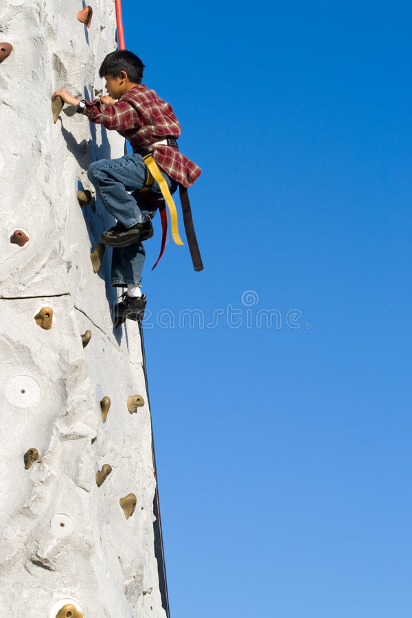 Download Wall Climbing stock image. Image of child, asian, person - 2308607