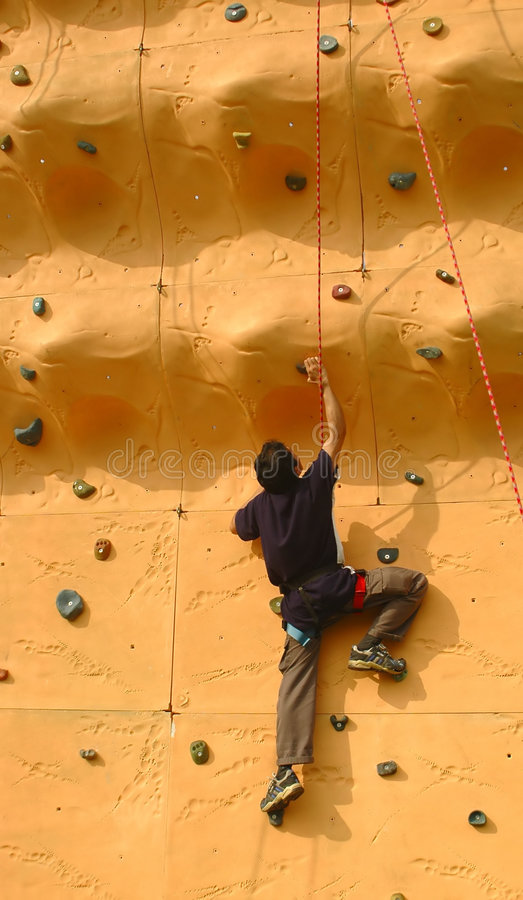 Wall Climbing stock images