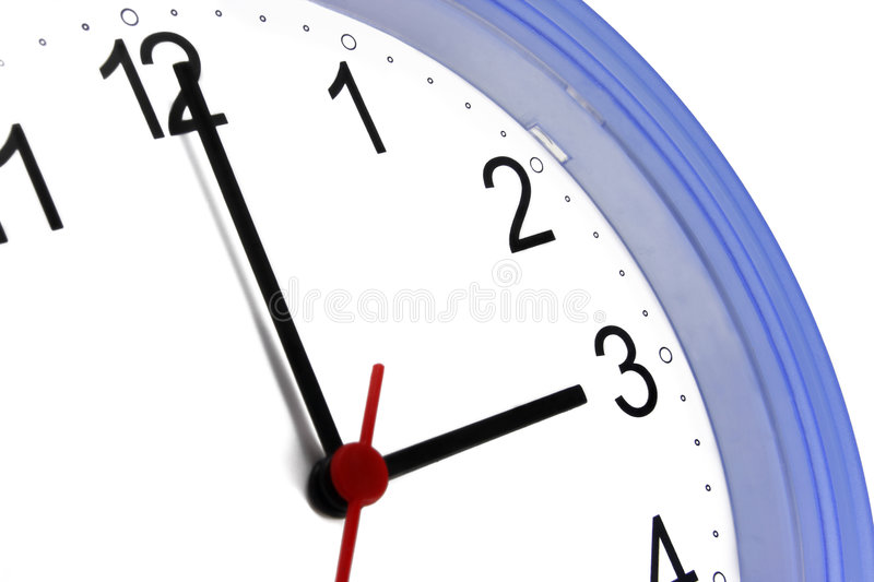 Download Wall Clock stock image. Image of white, wall, close, background - 6872131