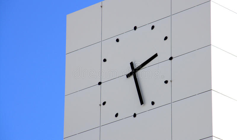 Download Wall clock on building stock photo. Image of squares - 23377682