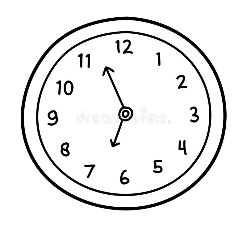 wall clock doodle stock vector  illustration of countdown