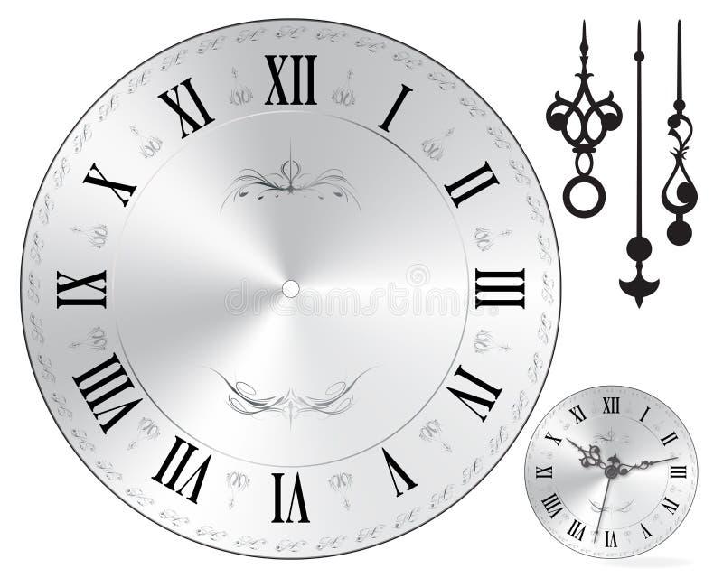 Wall clock face. Old fashion royalty free illustration
