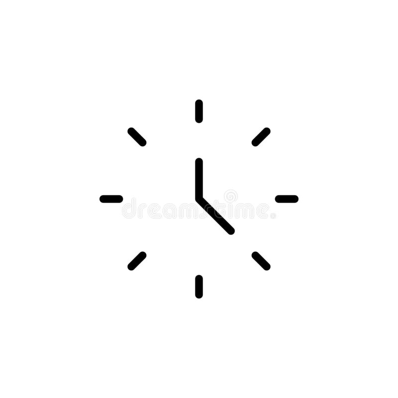 wall clock icon. Simple thin line, outline vector of Time icons for UI and UX, website or mobile application vector illustration