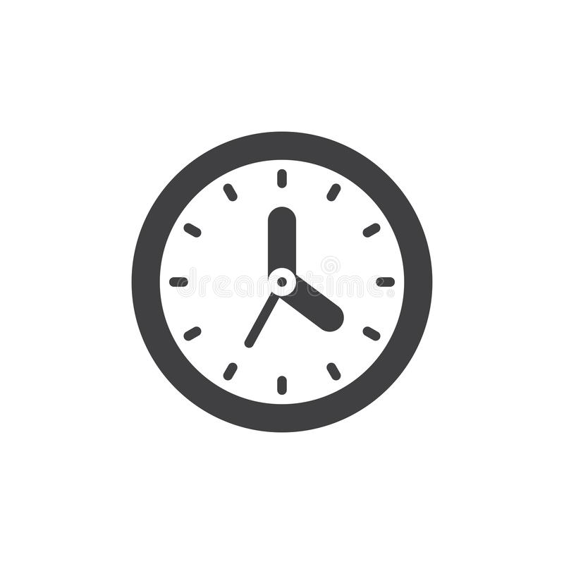 Wall clock icon vector royalty free illustration