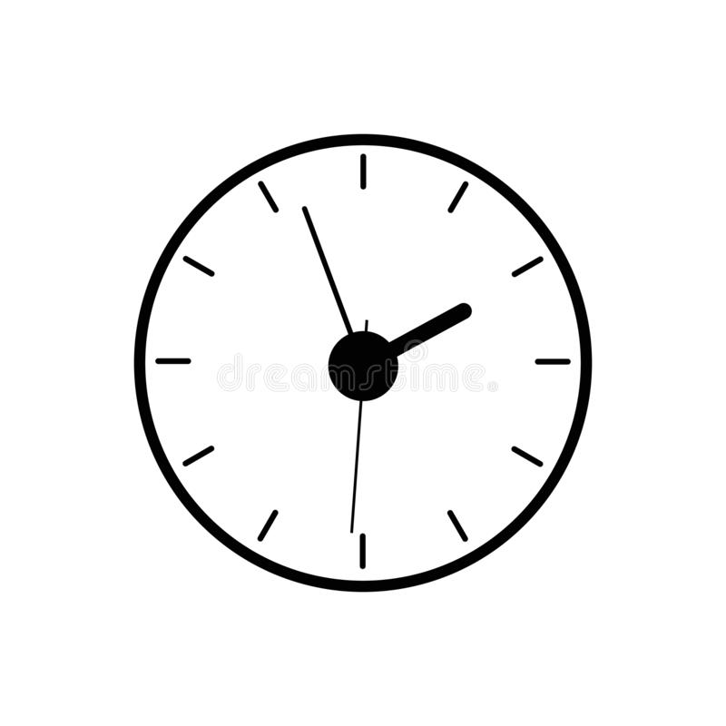 Wall clock icon, watch timer icon vector. royalty free illustration
