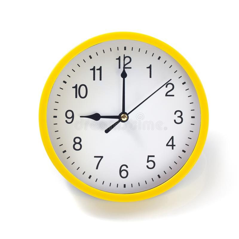 Wall clock isolated on white. Background royalty free stock images
