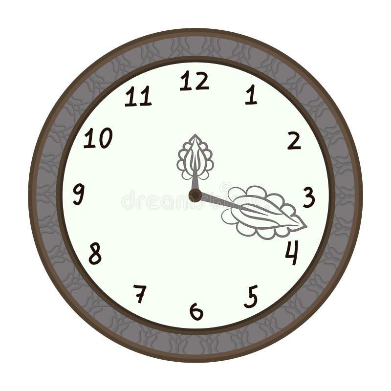 Wall clock, illustration vector illustration