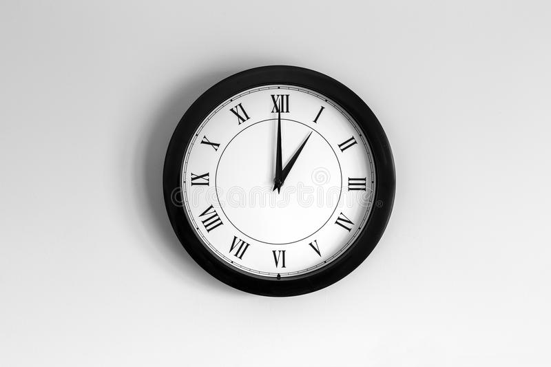 Wall Clock Roman Dial royalty free stock images
