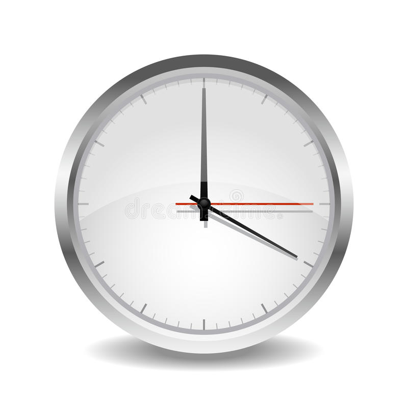 The wall clock. Simple wall clock on isoleted background vector illustration