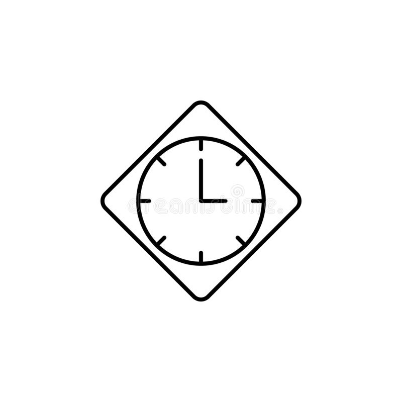 Wall, clock, time icon. Signs and symbols can be used for web, logo, mobile app, UI, UX stock illustration