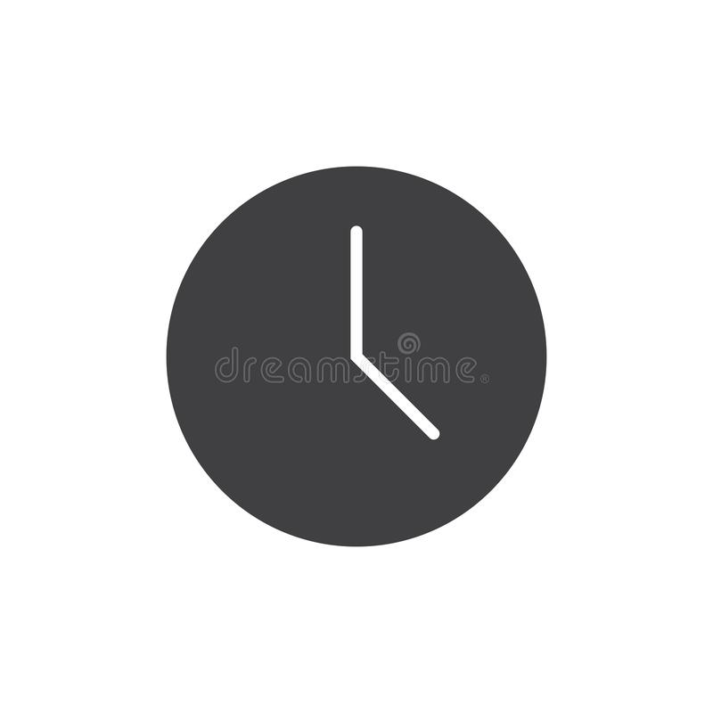 Wall clock vector icon. Filled flat sign for mobile concept and web design. Watch simple solid icon. Symbol, logo illustration. Pixel perfect vector graphics royalty free illustration