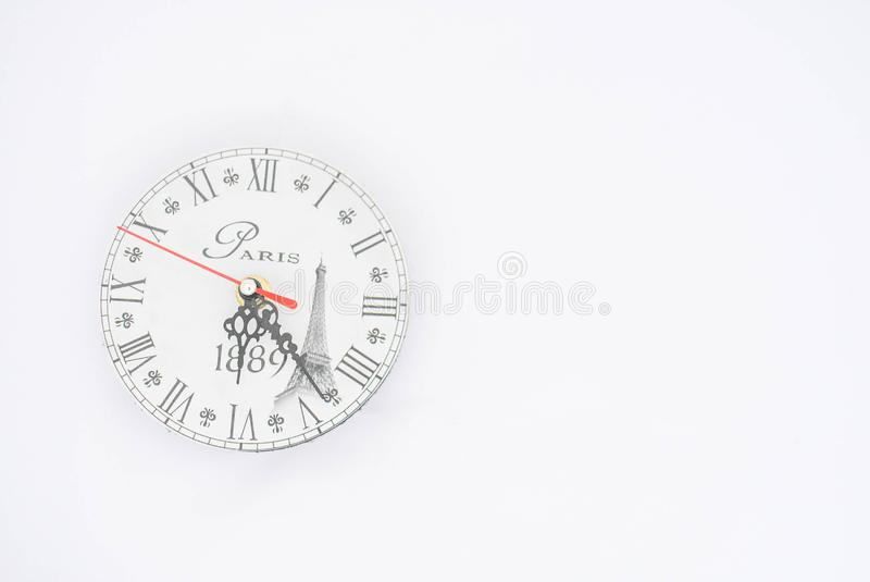Wall clock on a white background royalty free stock photography