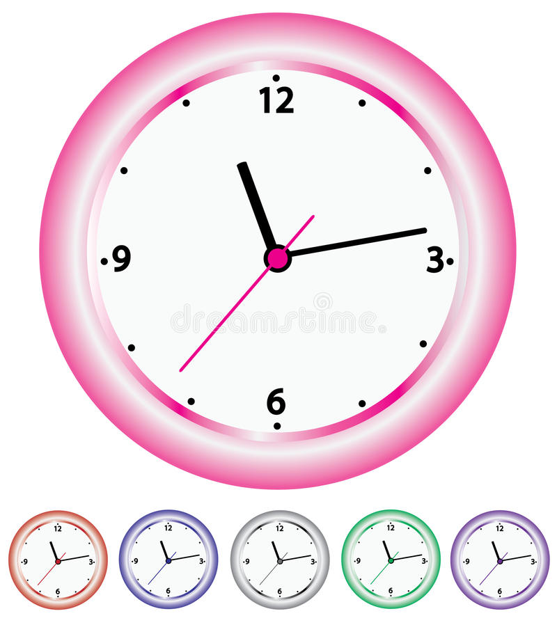 Download Wall clocks stock vector. Image of object, decoration - 24177072