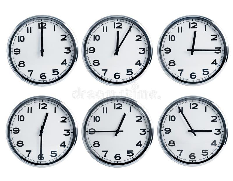 Wall clocks royalty free stock photos