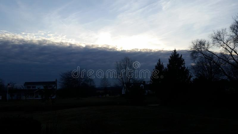 Wall of clouds stock photography