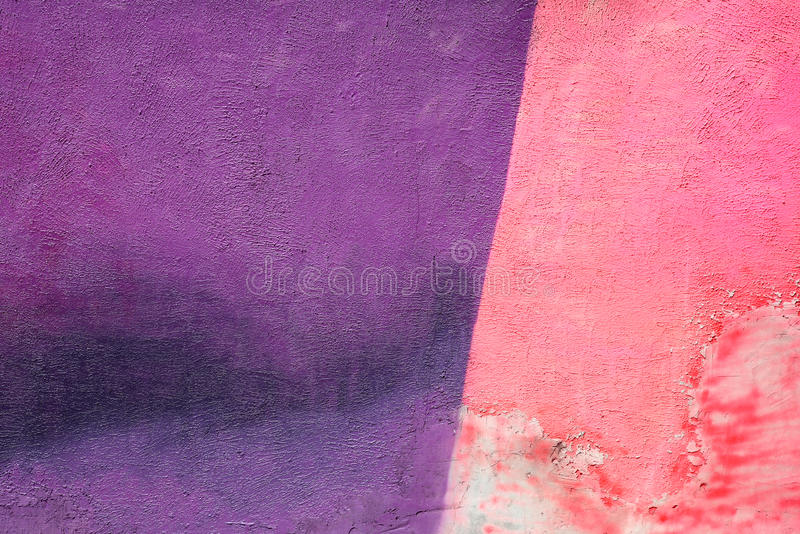 Wall with colorful pink purple paint pattern paint royalty free stock photo
