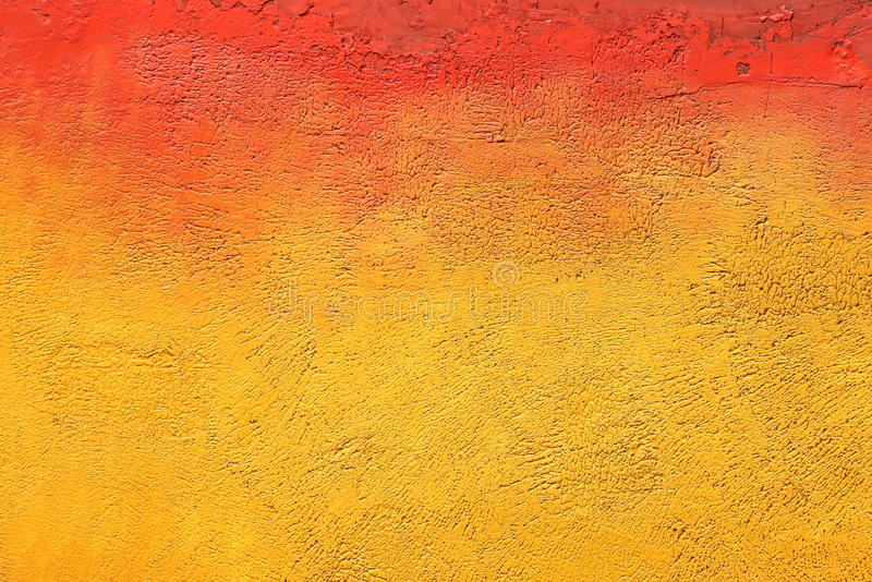 Download Wall With Colorful Yellow Orange Paint Pattern Stock Photo
