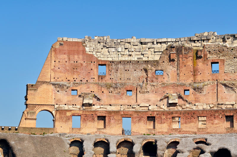Download Wall of Colosseum stock image. Image of circle, ancient - 20732211