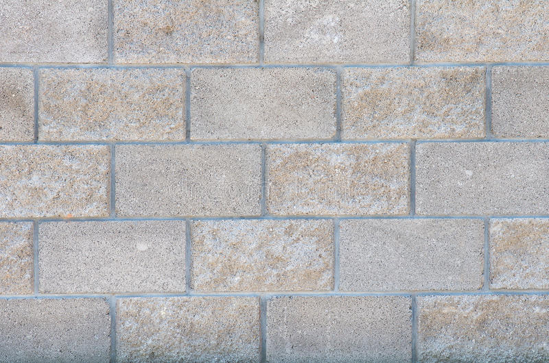 The wall of concrete decorative bricks royalty free stock photo
