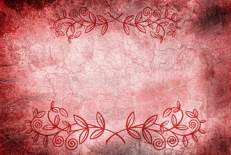 Download Wall With Cracks And Floral Design Royalty Free Stock Photography - Image: 12398787