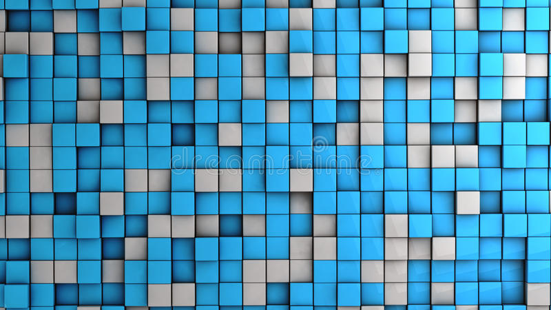 Wall of cubes royalty free illustration