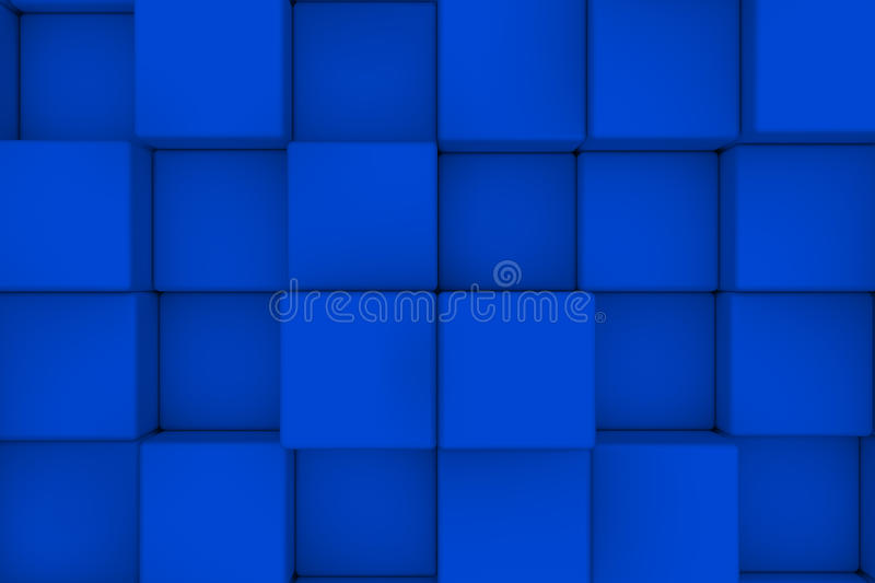 Wall of cubes. Abstract background. 3d render vector illustration