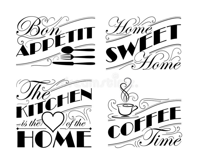Wall decal set. To decorate someones home royalty free illustration
