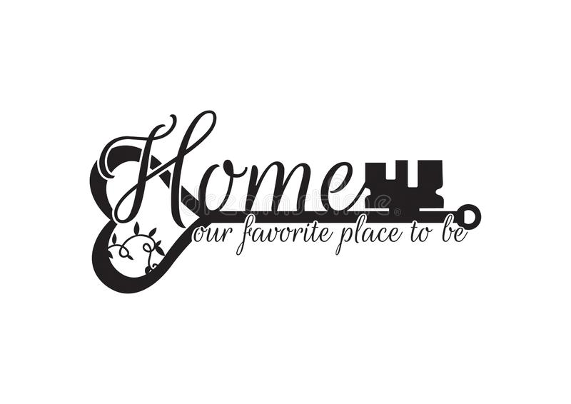 Wall Decals, Home our favorite place to be, Wording Design vector illustration