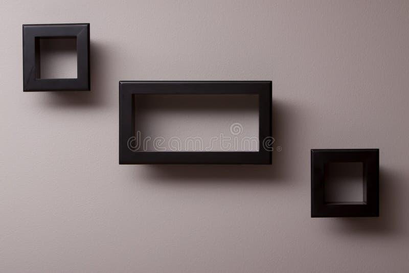 Wall decor. Decorative rectangular wall decor objects royalty free stock image