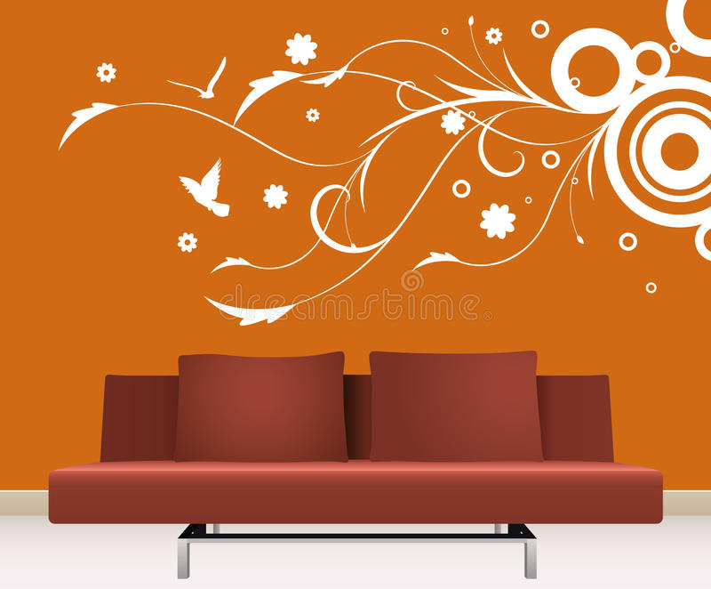 Download Wall decoration stock vector. Illustration of house, leaf - 13612095