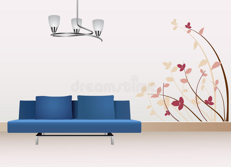 Download Wall decoration stock vector. Image of floral, modern - 15419847