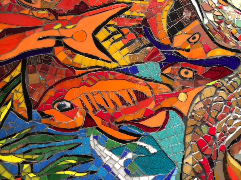 Download Wall decoration underwater stock image. Image of mosaic - 86390997
