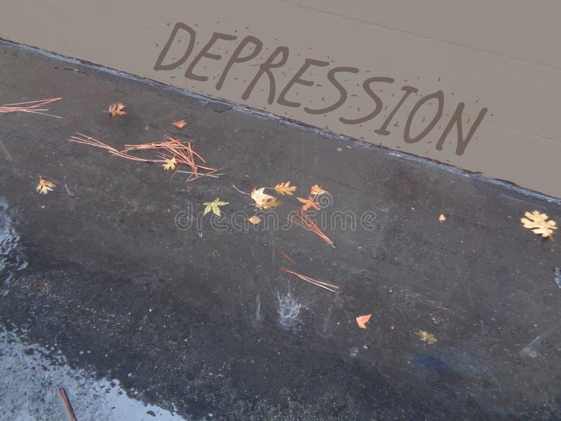 Wall of Depression - Rainy Day royalty free stock photo