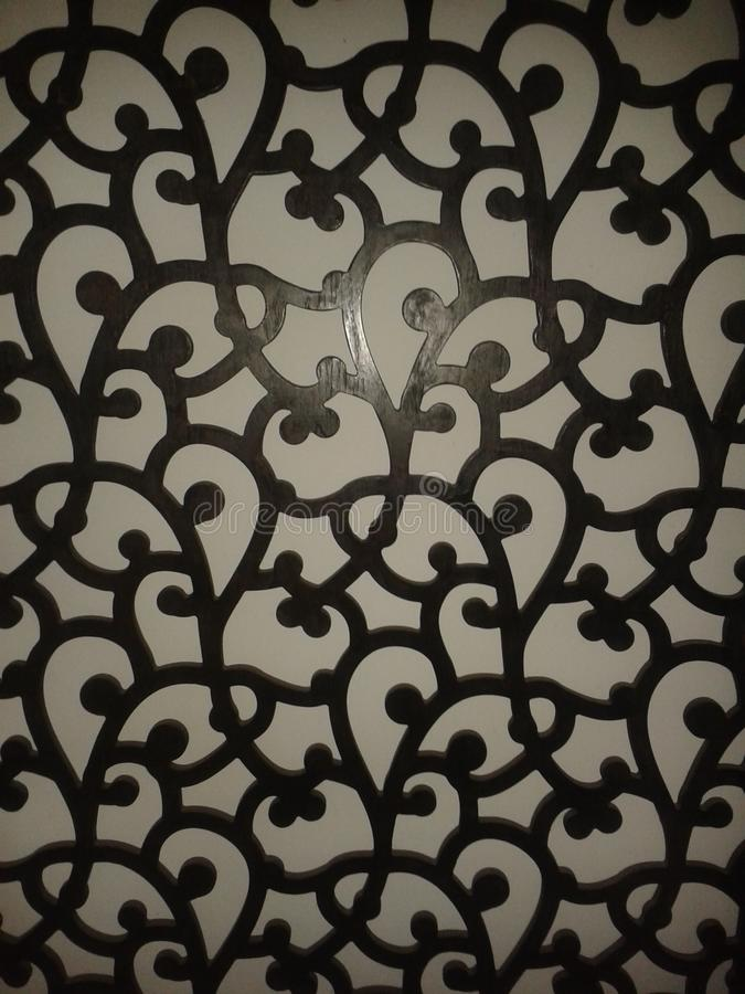 Wall design. And home or office decor stock image